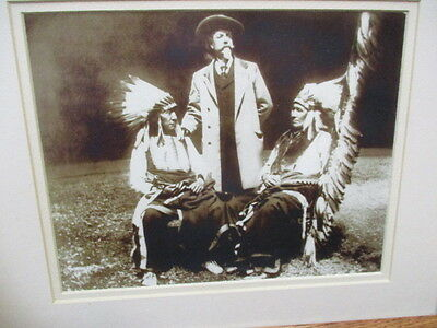 Framed Photograph of Buffalo Bill, Red Cloud & American Horse-Cody's Wild West