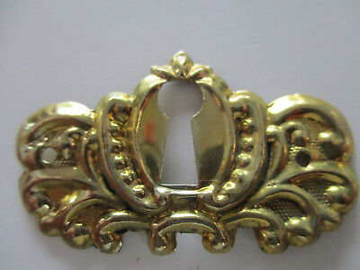 2 Victorian keyhole covers brass reproduction #2