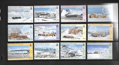 British Antarctic Territory 2003 Research Bases and postmarks Sg377-388  MNH