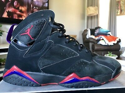brand new 63961 dfd1d Nike Air Jordan VII 7 Retro Sz 13 2002 Raptors Black Red 304775-006