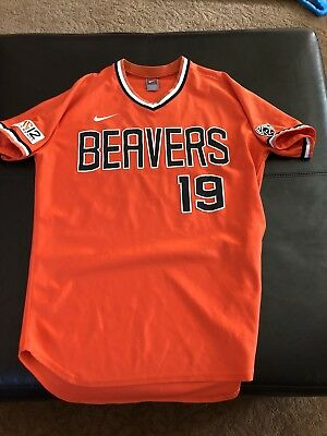 newest 6fc52 7aba2 Oregon State Beavers Nike Game Used Baseball Jersey College World Series 48