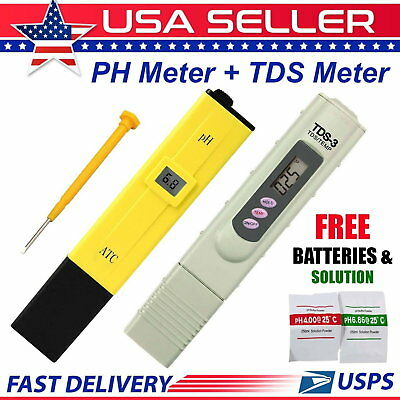 LCD Digital PH Meter+LCD Digital TDS-3 Tester WITH BATTERIES Free Shipping type2