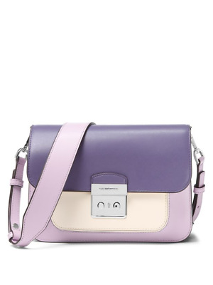 60e6bedfd859 MICHAEL KORS SLOAN Editor Color-Block Leather Shoulder Bag - $159.00 ...