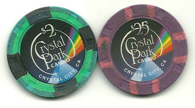 Two Chips from Crystal Park Casino, California