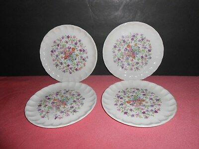 Vintage 1914 W.S. George Bolero Fiesta Floral Flowers 4 Bread and Butter