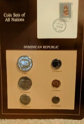 Franklin Mint Coin Sets of All Nations Dominican Republic 6 Coins 1984 and Stamp