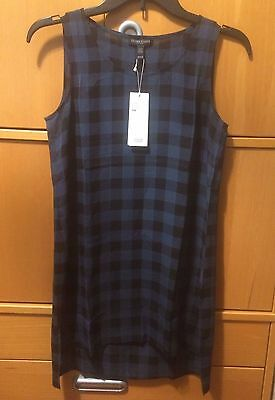 dc9cc92065337 NWT Eileen Fisher Buffalo Check Printed Silk Tunic Top Size PS PP  238