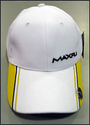 Maxfli Golf Cap With Magnetic Ball Marker - White/yellow - Adjustable - New!