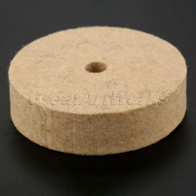 "1Pc 3"" Inch Round Polishing Wheel Durable Felt Wool Buffing Polishers Pad Buffer"