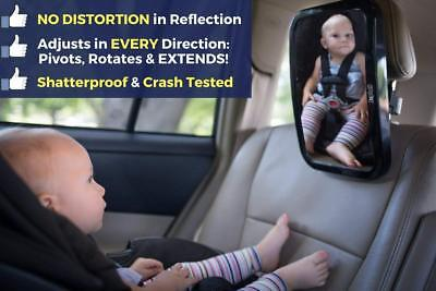 Car Accessories Rear Facing Baby Seat Mirror Back Headrest Infant Shade