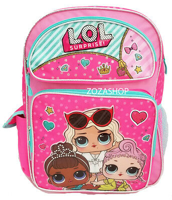 "L.O.L Surprise! Large Backpack 16"" NEW Pink LOL Backpack"