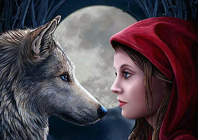 """Moonstruck Canvas Plaque by Lisa Parker 7.5"""" x 10"""" Wolf"""