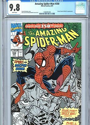 Amazing Spider-Man #350 CGC 9.8 Erik Larsen Cover & Art Marvel Comics 1991