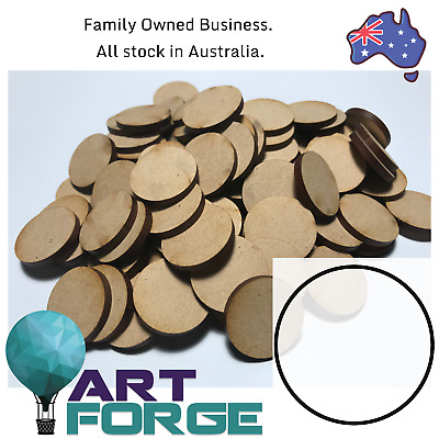 100 x MDF Wooden shapes - Circles - 25 mm (3mm thickness)