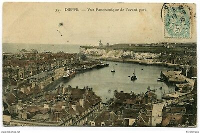 CPA-Carte postale-France -Dieppe - Vue Panoramique de l'Avant Port - 1905