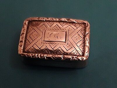 Beautiful Solid  Silver Vinaigrette  NATHANIEL MILLS   1835