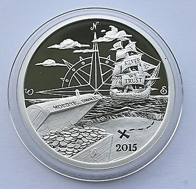 2015 Welcome to Silverbug Island 1oz .999 Silver Proof Coin
