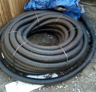 PERFORATED PIPE LAND drainage 80mm land drain French drain *surplus to  needs*