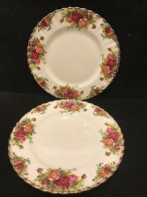 Pair of Vintage Royal Albert Country roses  Entree Plates Made In England
