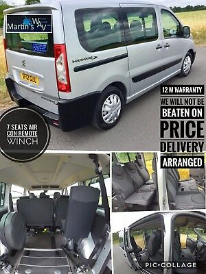 2012 PEUGEOT EXPERT TEPEE 1.6 hdi WHEELCHAIR ACCESSIBLE 7 SEATS PLUS WHEELCHAIR
