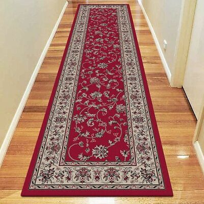NEW Saray Rugs Orchid Spring Oriental Runner Rug in Beige, Black, Red