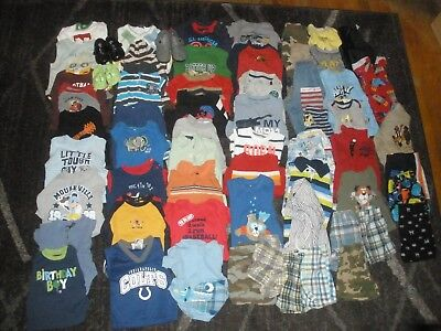 #5 Boy clothes lot 59 pieces 12 to 18 months Carter Arizona Jumping Bean