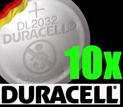 10 x Duracell CR2032 3V Lithium Coin Cell Battery 2032 button DL2032 SB-T15 NEW