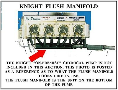 Knight  Manufacturing  Laundry  Chemical  Flush  Manifold  Model  Op-6Fm