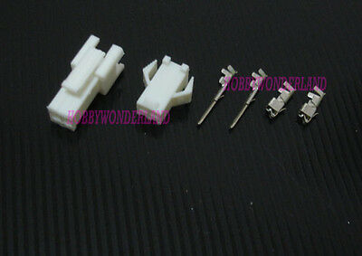 JST 2.5mm SM 2-Pin Battery Connector Plug Male & Female (White color) x 10 sets