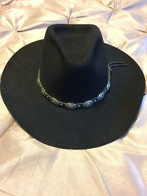 b328dcf5e35 MEN S BLACK STALLION by Stetson Wool Cowboy Hat Size 7 1 8 -  45.95 ...