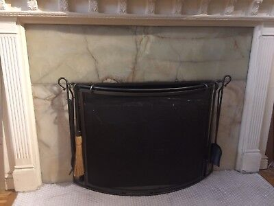 fire place screen - Restoration Hardware Brand - slightly used - grey metal