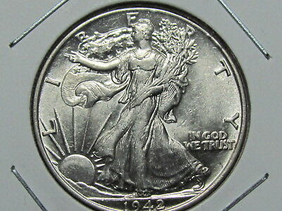 1942 - Walking Liberty Half Dollar -  Brilliant Uncirculated