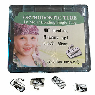 50 Set Dental Orthodontic 1st Molar Buccal Tube Non-Convertible Bondable MBT 022