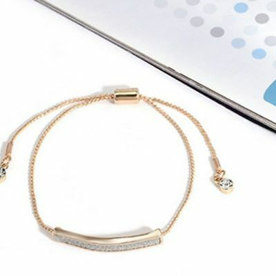 Women's Bracelet Long Stripes Rhinestone Chain Adjustable Jewelry Romantic O8N6