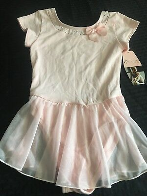 Danskin Freestyle Girls Size 7/8 Pink Tulle Leotard Dance