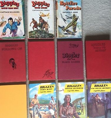 Biggles Books Capt WE Johns Collection 1950s 1960s 1970s Incl First 1st Editions