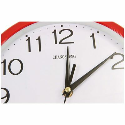 Large Round Modern Home Bedroom Retro Time Kitchen Wall Clock Quartz Red I3F8