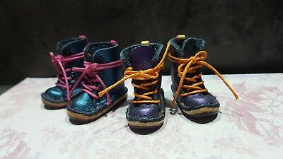 Blythe doll Leather boots 2 pairs