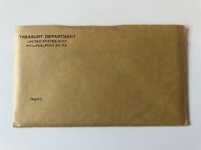 1962 U.S. PROOF SET U.S. Mint Sealed in flat Cellophane With envelope And Note
