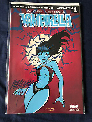 VAMPIRELLA - Anthony Marques (Signed Autograph) Bam Box Exclusive Comic #1 COA