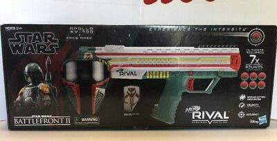 Nerf Star Wars Battlefront II Boba Fett Rival Apollo XV-700 Blaster NEW