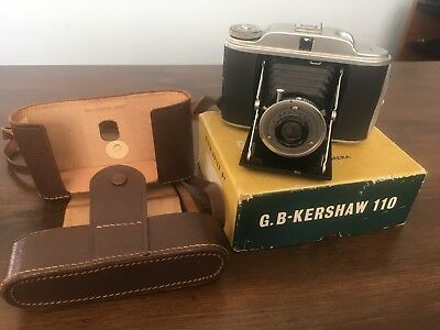 G.B-Kershaw 110 folding camera with original box and carry case 99p bargain..