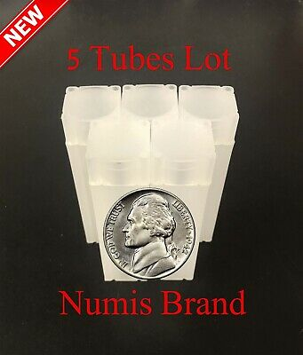 10 NUMIS COIN SQUARE DOLLAR TUBES $1.00 Tubes for MORGAN and PEACE Unbreakable