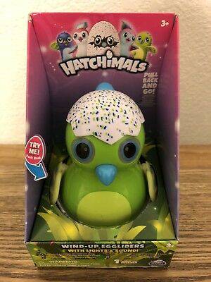 New Hatchable'S Egg Sliders Pull Back Action With Lights And Sounds Green Color