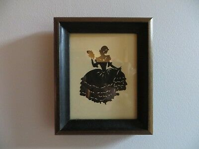 Beatrix Sherman Hand-Cut Silhouette of Southern Belle 1920's