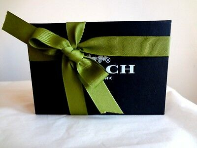 "COACH retail SMALL Magnetic closure Black Hard Gift BOX 5 X 4 X1""  NEW"