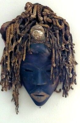 Antique Carved African Mask Chokwe Tribe