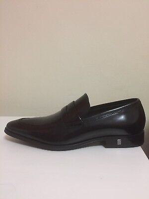 5591ffbde0d Versace Collection Black Patent Leather Dress Shoes Loafers Mens Sz