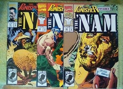 The 'Nam #67, 68, 69 (1992, Marvel) 9.2 NM- (Punisher Invades 3 part story)