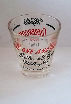 Wight's Sherbrook Rye Whiskey 2 Color Advertising Shot Glass Loreley,maryland